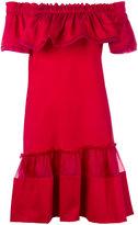 Alberta Ferretti off-the-shoulder dress - women - Silk/Cotton/other fibers - 40