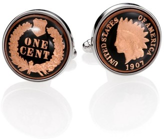 David Donahue Authentic Indian Head Coin Cuff Links