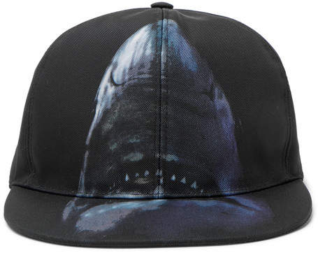 Givenchy Shark-Print Canvas Baseball Cap - Black