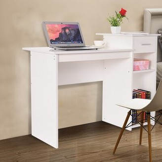 Latitude Run Geehan Home Desktop Computer Desk With Drawers Home Small Desk Dormitory Study Desk Color: White