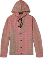 Barena - Gingham Shell Hooded Jacket