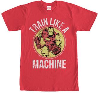 Fifth Sun Men's Tee Shirts RED - Red 'Train Like A Machine' Iron Man Tee - Men