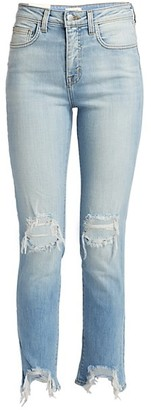 L'Agence High Line High-Rise Skinny Distressed Jeans