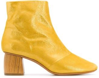 Forte Forte metallized chunky-heel boots