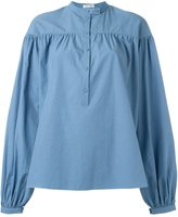 Tomas Maier long sleeve ruffled blouse