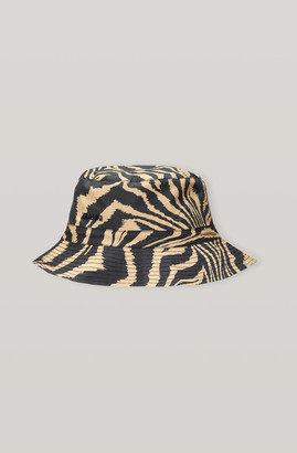 Ganni Printed Cotton Poplin Hat