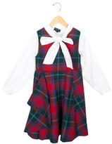 Oscar de la Renta Girls' Plaid Wool Dress