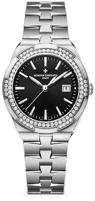 Vacheron Constantin Overseas Stainless Steel & Diamond Bracelet Date Display Watch