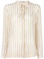 Etro gold-tone stripes shirt - women - Silk/Metallized Polyester - 40