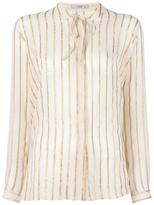 Etro gold-tone stripes shirt - women - Silk/Metallized Polyester - 42