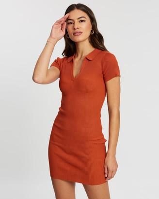 Missguided Plunge Collar Mini Dress