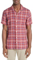 Todd Snyder Men's Plaid Linen Slim Fit Sport Shirt