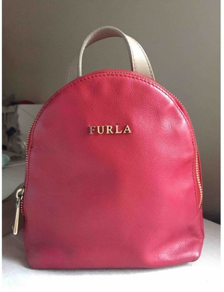 Furla Red Leather Backpacks