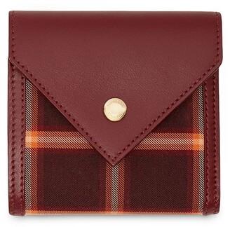 Burberry Tartan Check Tri-Fold Wallet