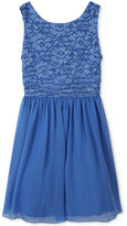 Speechless Lace-Bodice Fit & Flare Dress, Girls Plus (10-20)