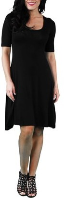 24/7 Comfort Apparel Women's 3/4-sleeve Dress
