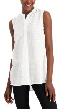 Alfani Petite Textured Sleeveless Tunic, Created for Macy's