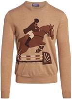 Ralph Lauren Purple Label Equestrian Cashmere & Wool-Blend Sweater
