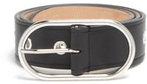 Acne Studios Masculine Large Logo-buckle Leather Belt - Womens - Black
