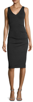 Nicole Miller Jersey Ruched Sheath Dress