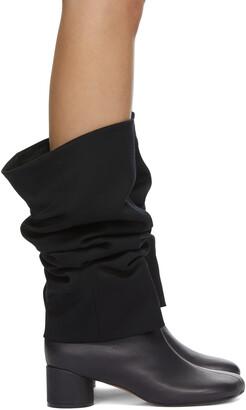 MM6 MAISON MARGIELA Black Suiting Top Boots