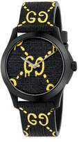 Gucci 38mm G-Timeless Watch with Rubber Strap
