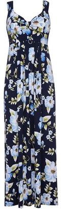 Yumi Floral Print Maxi Dress