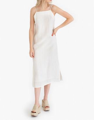 Madewell Tribe Alive Organic Linen Slip Dress