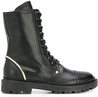 Casadei lace up combat boots