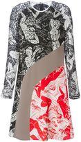 Carven contrasting panels printed dress - women - Silk/Cotton/Nylon/Polyester - 40