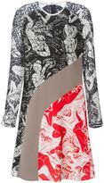 Carven contrasting panels printed dress
