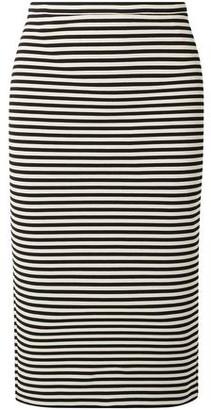 Max Mara Egoista Striped Stretch-knit Pencil Skirt