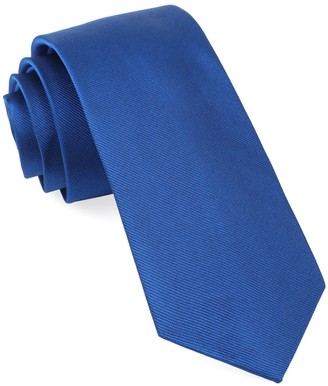 Tie Bar Grosgrain Solid Royal Blue Tie