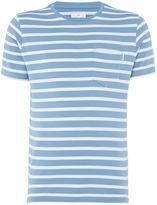 Peter Werth Men's Press Two Colour Stripe Cotton T-Shirt