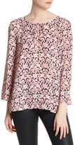 Cupcakes And Cashmere Sophie Floral Print Blouse