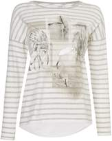 Oui Long sleeve stripe festival tee