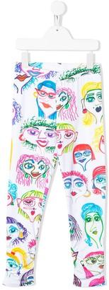 MOSCHINO BAMBINO All-Over Print Leggings