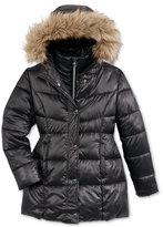 Michael Kors Girls' Stadium Puffer Jacket with Faux-Fur Trim, Big Girls (7-16)