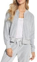 Zella Women's Street To Studio Velour Bomber Jacket