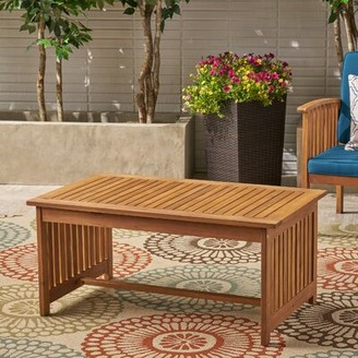 Beachcrest Home Safira Solid Wood Coffee Table