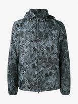 Valentino Butterfly Print Hooded Jacket