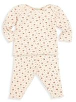Bonpoint Baby's Two-Piece Floral-Print Pajama Top & Leggings Set