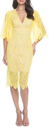 Dress the Population Mia Angel Sleeve Lace Dress