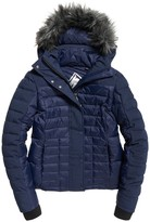 Superdry Short Padded Jacket with Faux Fur Collar
