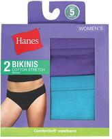 Hanes Women's Cotton Stretch Bikinis (6 Pairs)