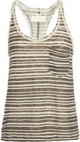 Rag & Bone Racer Tank-Charcoal Stripe