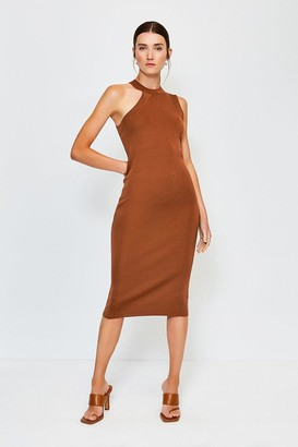 Karen Millen Sleeveless Knitted Midi Dress