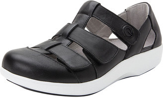Alegria Women's Sandals BLACK - Black Treq Leather Sandal - Women