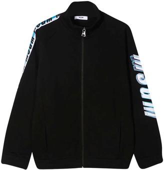 MSGM Black Teen Sweatshirt