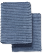 Melange Home Ribbed Turkish Cotton Bath Sheets (Set of 2)